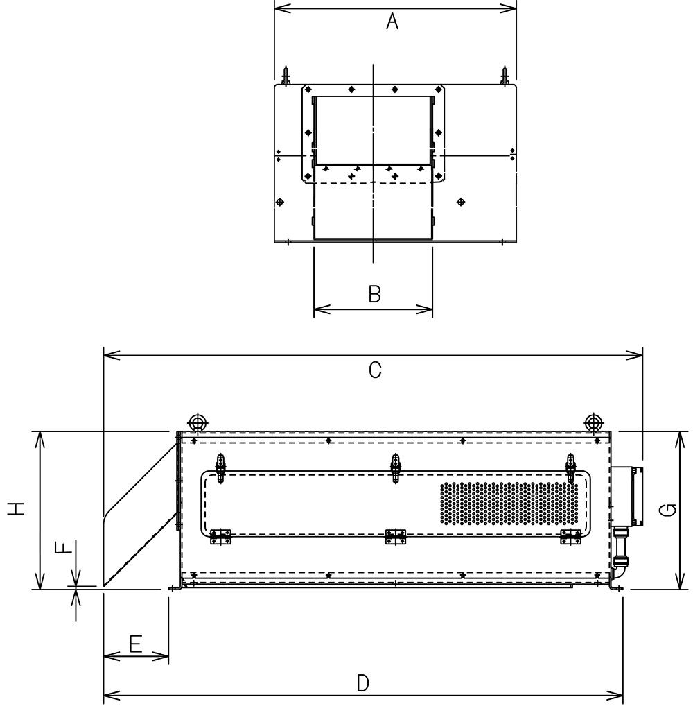 スリットセーバー濃縮・固液分離仕様寸法図